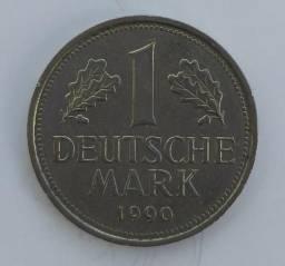 Moeda 1 Deutsche Mark 1990