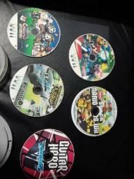 Kit com 5 DVDs do Mário boba esponja wii