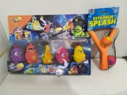 Kits Bonecos Angry Birds E Estilinque Lançador