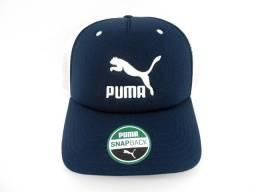 Boné Puma Archive Trucker Azul Marinho & Branco