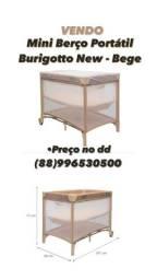 Mini berço portátil burigotto new- bege