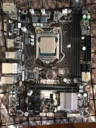 Kit intel i5 4460 3.2ghz com placa mãe gigabyte GA-H81M-H e 16 GB de RAM