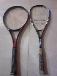 Raquete Prince e Babolat Squash 120 as duas