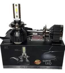 Par De Lâmpadas Super LED 6000K - 12-24V 4800LM - H1 H3 H4 H7 H11 H16 H27 HB3 HB4