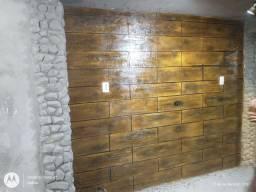 Faço efeito madeira e efeito pedras