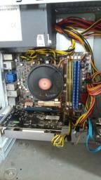 CPU Gamer DDR2 AMD Phenon II X4 940 3.0GHz 4GB placa de vídeo 1GB