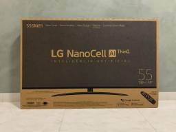 Smart TV Ultra HD 4K LED 55'' LG NanoCell Lacrada com nota fiscal