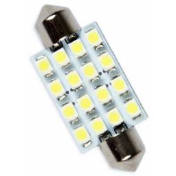 Lâmpada Torpedo 16 LEDs Para Luz de Teto Placa Porta Luvas (31mm, 36mm, 39mm 41mm)