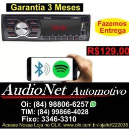 Radio Com Bluetooth Fm Usb Aux Mp3 pendrive Controle Pelo Celular Som