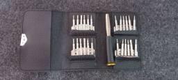 Conjunto de Chaves de Luxo em Case de Couro Abre Até Iphone