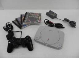 Ps One - 1 Controle + 4 Jogos - Sony Ps1