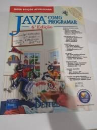 Livro Java, Como Programar 6° Edição em Ótimo Estado