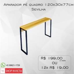 Aparador Home Office Sevilha Pé Quadro 120x30x77cm / Nova / NFE