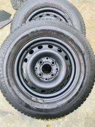 Jogo de pneu aro 13 com aro 175/70R13 PIRELLI