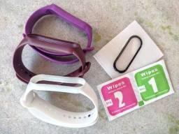 Película e pulseira para Xiaomi Mi Band 5 e 6