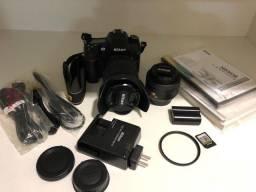 Câmera nikon D7000 + lente
