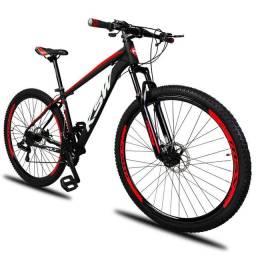 Bicicleta Aro 29 KSW 24V Câmbio Shimano Freio Disco Hidráulico Susp