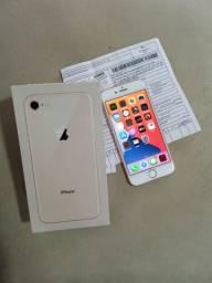 Vendo Iphone 8 Rose 256Gb R$2.300 Faço troca