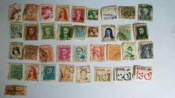 Coleção de Selos Antigos 76 Selos De Cartas