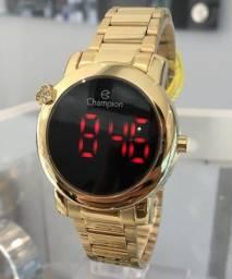 Relógio Digital Dourado Champion