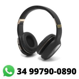 Fone Bluetooth Headphone Sd Rádio Fm P2