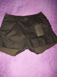 Bermudas Jeans em Laycra 46