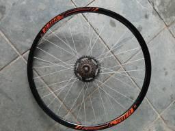 Par de rodas Vzan 29+Par de pneus Schwalbe meia vida+câmbio traseiro shimano tourney
