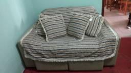 Sofá retrátil reclinável 2 lugares.