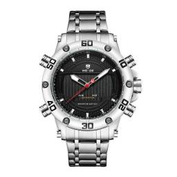 Relógio Masculino Weide AnaDigi WH6910 - Prata e Preto