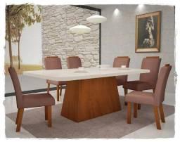 Oferta!! Mesa Vicenza com 6 Cadeiras na Promoção - Só R$1.599,00
