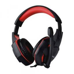 Fone De Ouvido Gamer Satellite Headset AE-362U - Preto/Vermello