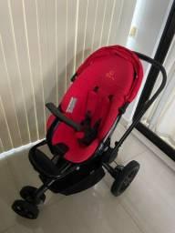 Carrinho e bebê conforto com base para o carro