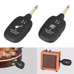 Receptor e Transmissor Sem Fio Wireless Guitarra Violão e Baixo