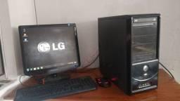 computador core 2 duo 4gb memória hd 500gb monitor 17