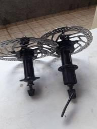 Cubo Shimano + disco de freio cengerlock