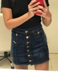 Saia jeans cintura alta tamanho 38