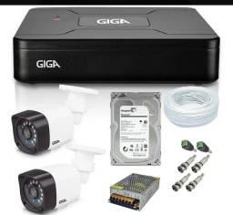 Kit com 2 câmeras GIGA completo instalação grátis.