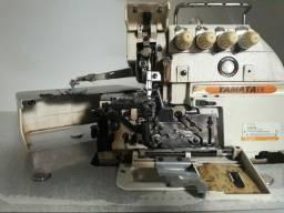 Máquina interlock adaptada para ponto cadeia