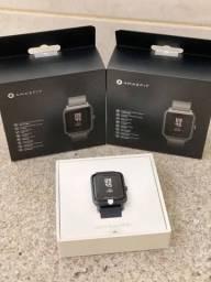 Smartwatch Amazfit Bip S - Rosa ou Preto - Pronta Entrega