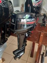 Motor de popa 15 hp super Mercury novo !!
