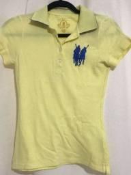 camiseta polo play amarela