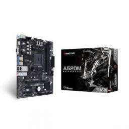 Placa Mae Biostar A520mh ddr4 socket AM4 m.2 chipset amd a520