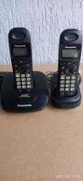 Telefone Sem Fio  + 1 Ramal - Preto<br><br>