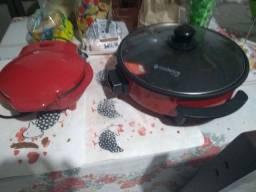 Vende uma omeleteira e uma panela redonda elétrica as duas por 350  usei uma vez só