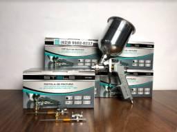 Pistola de Pintura Gravidade Aluminio 3 Bicos de Brinde