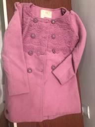 Sobretudo casaco lilica lindo impecável