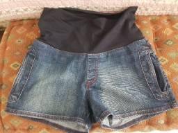 Short jeans para gestante