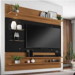 Painel para TV até 60 Polegadas 1820mm Freijó Trend e Preto