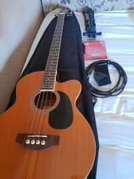 Baixolao, guitarra Epfhone, violão ej200 ce Epfhone.