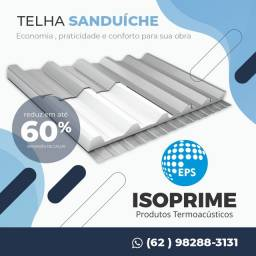 Telha termica , perfil metalico e isopor